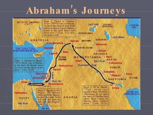 Abraham jurneys to Promised Land